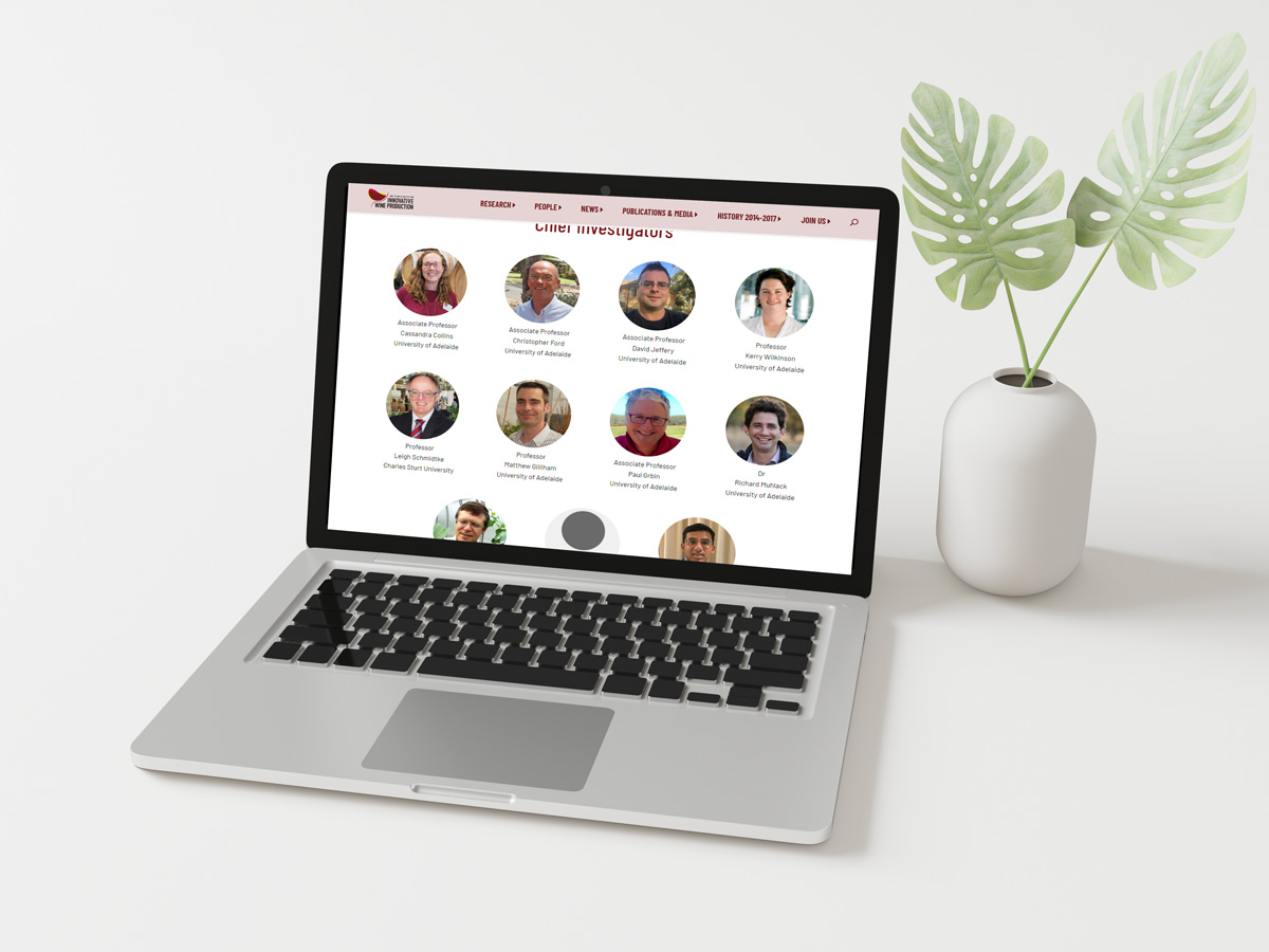 ARC Wine Innovation laptop view.