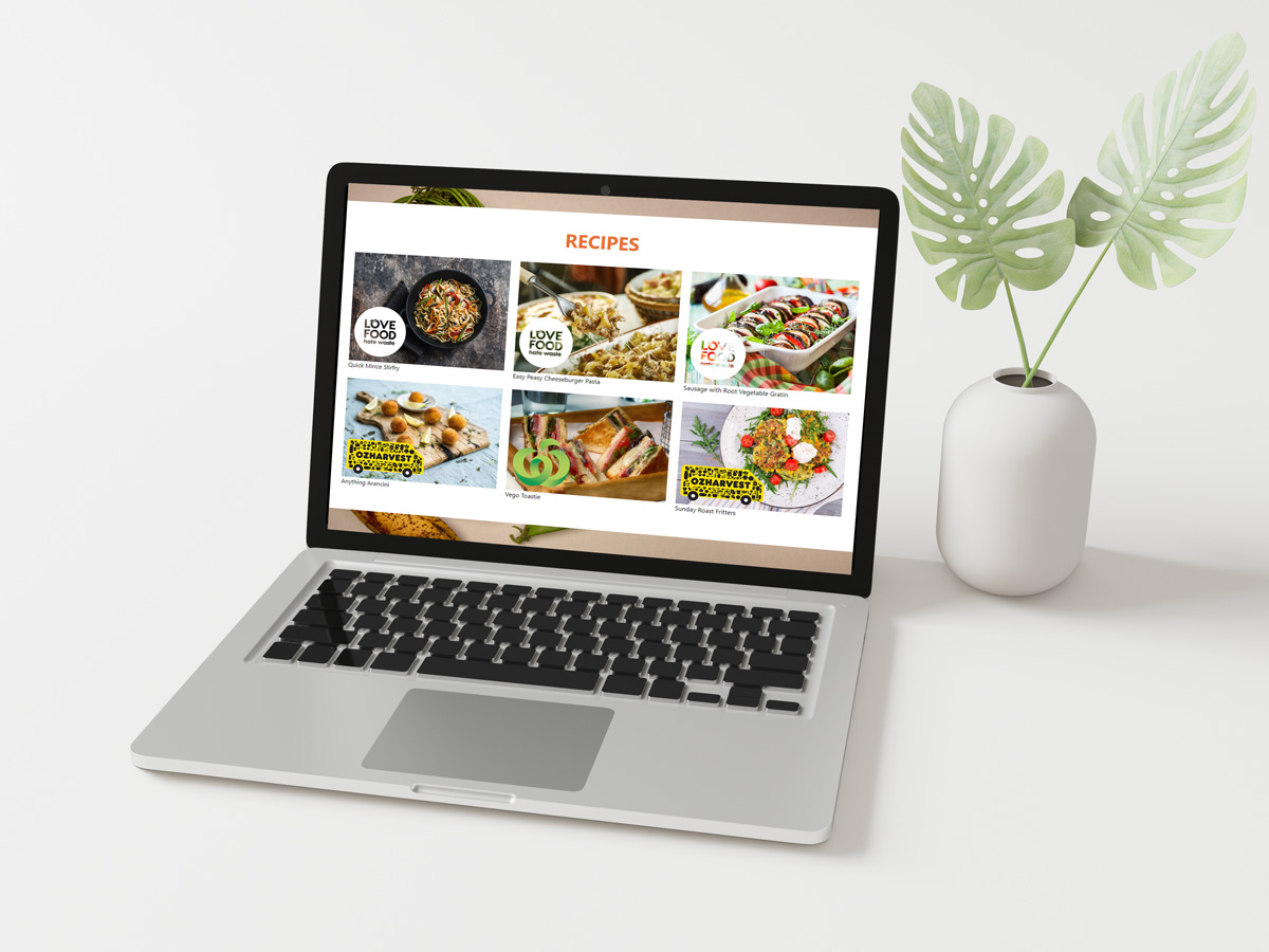 Fight Food Waste Easy As microsite laptop view