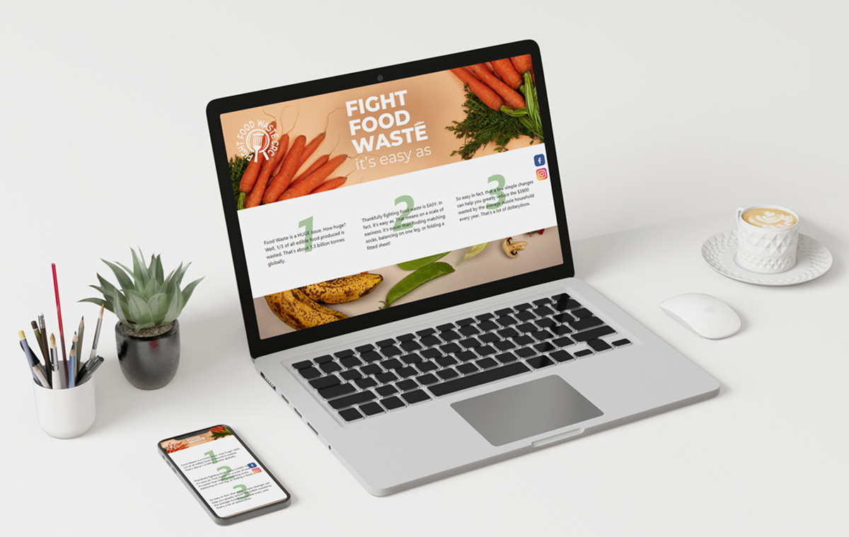 Fight Food Waste Easy As microsite laptop and mobile view